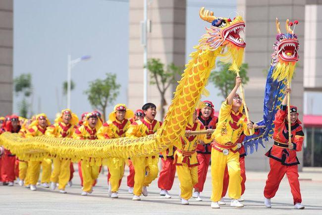 драконы змеи наги в Китае